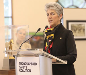 Dr. Kathleen Anderson during a press conference