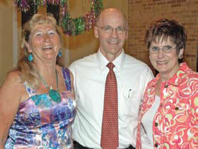 Dr. Ron DeHaven and Auxiliary presidents